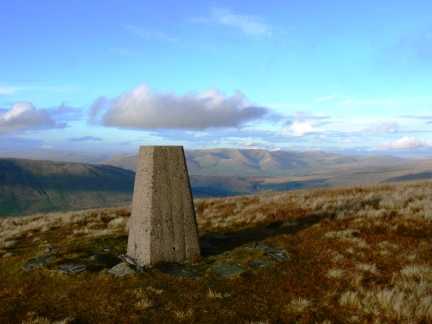 The trig point on Crag Hill
