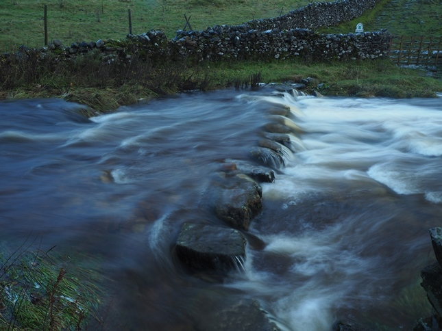 It was not a day to attempt the stepping stones at Cray