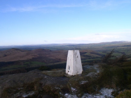 The trig point on Crookrise Crag Top