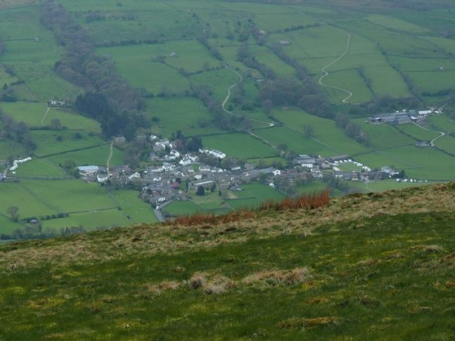 The superb view looking down on Dent from just south of the trig point