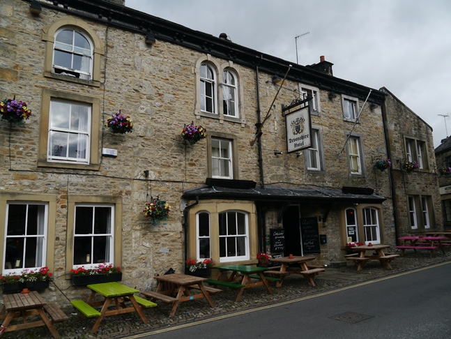 The Devonshire Hotel where we stayed overnight in Grassington