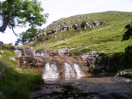 One of the attractive waterfalls in Dowber Gill