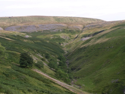 Looking down into the upper reaches of Dowber Gill