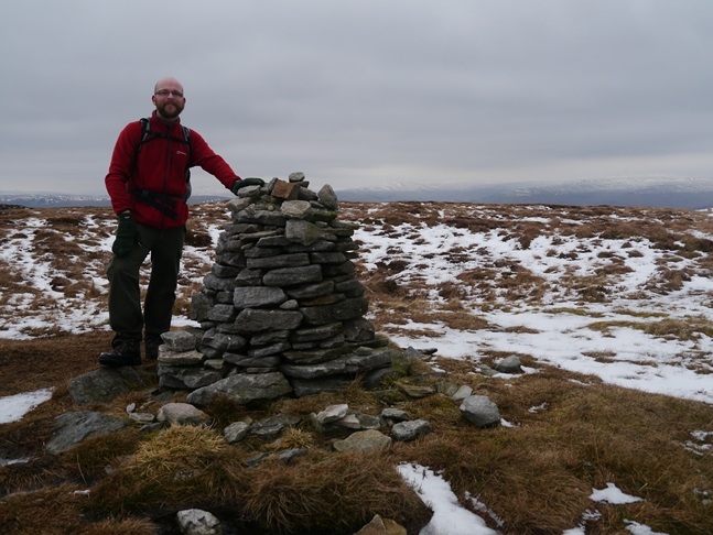 Drumaldrace, the summit cairn on Wether Fell