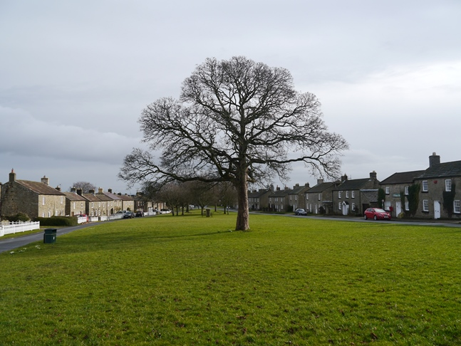 The large village green in East Witton