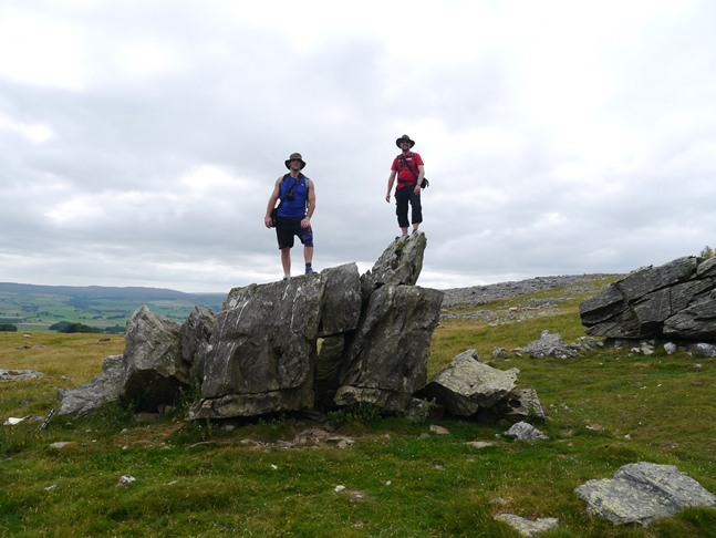 With Tim on one of the erratics