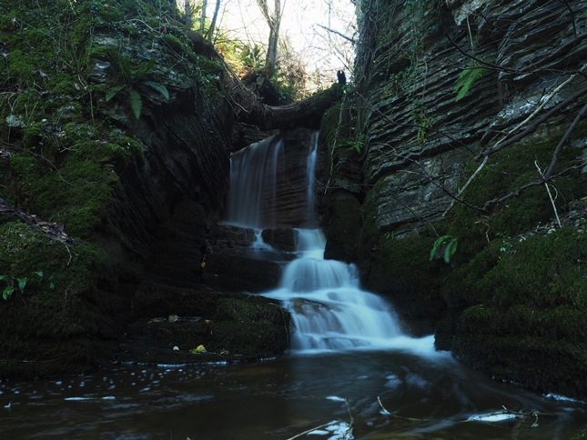The main waterfall in Foss Gill, called by some Calton Spout