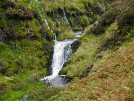One of the many waterfalls in the upper part of Fossdale Gill