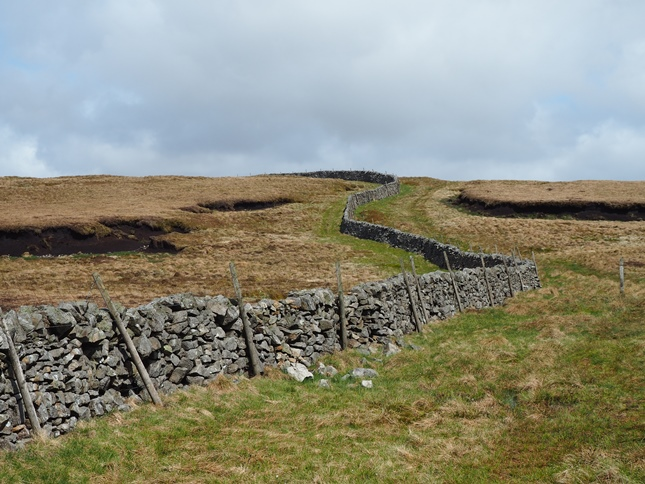 Following the wall to Fountain Fell's South Top