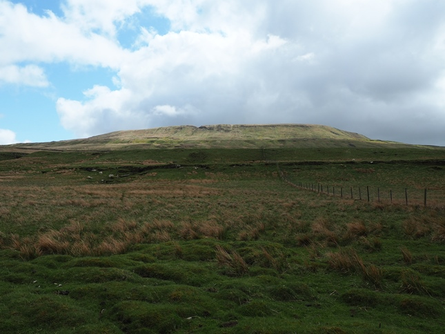 Looking back up at Fountains Fell