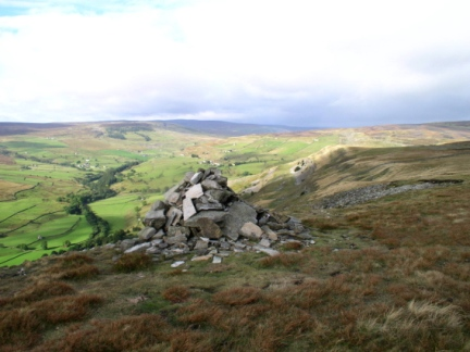 The top of Fremington Edge overlooking Arkengarthdale
