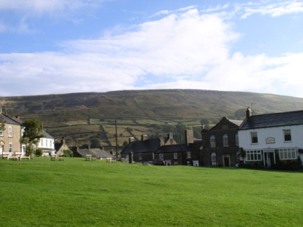 Fremington Edge from Reeth village green