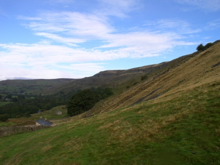 The lower slopes of Fremington Edge