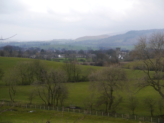 A nice view of Gargrave from the Pennine Way