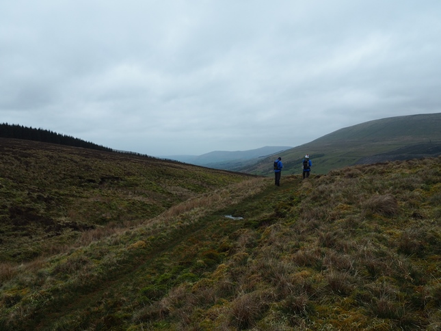 Jason and Wally on the bridleway leading down into Garsdale