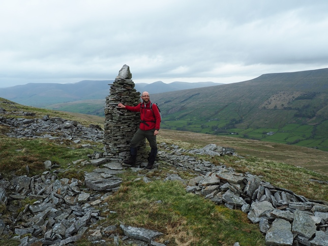 By the large cairn above Garsdale