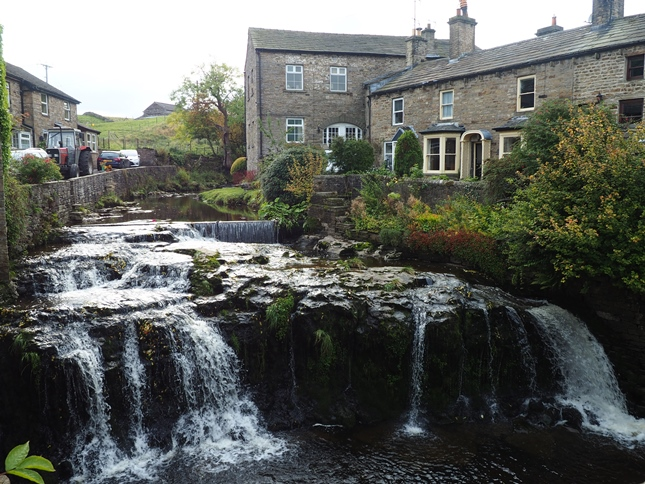 The lovely waterfall on Gayle Beck as it passes through Hawes