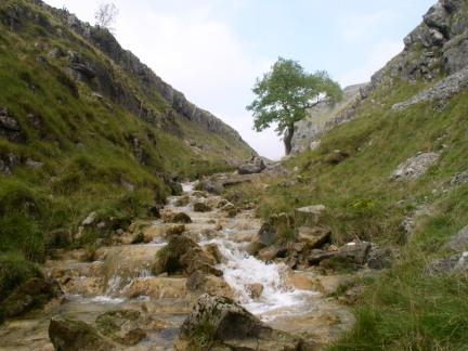 Gordale Beck above the waterfalls