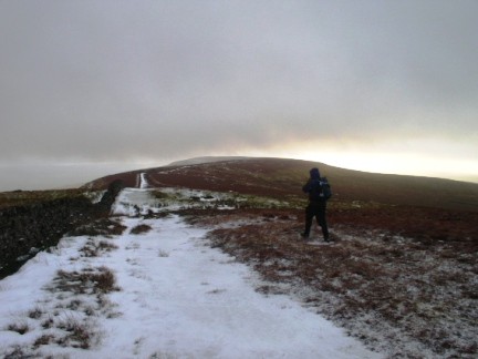 Matt heading for Gragareth from Green Hill just before the blizzard hit us