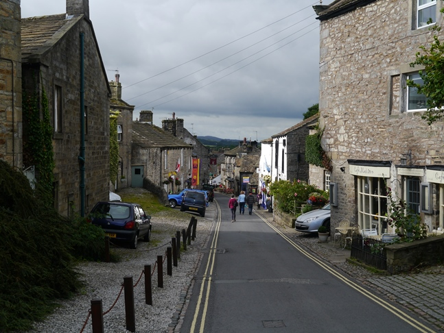 Looking back down the main street in Grassington