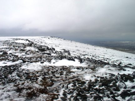 Looking back to the summit of Great Whernside from Blackfell Top