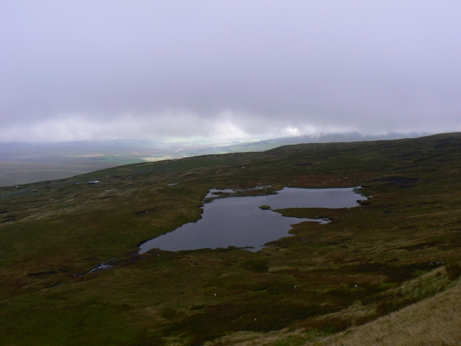 Looking back down on Greensett Tarn