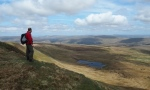 Looking down at Greensett Tarn from Whernside