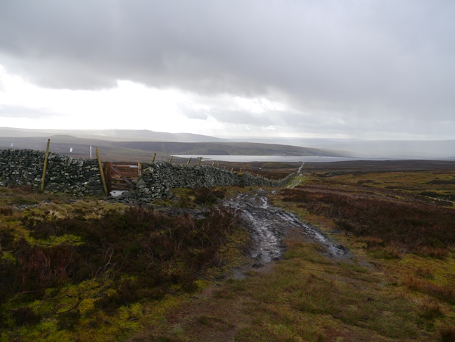 Looking back down towards Grimwith Reservoir