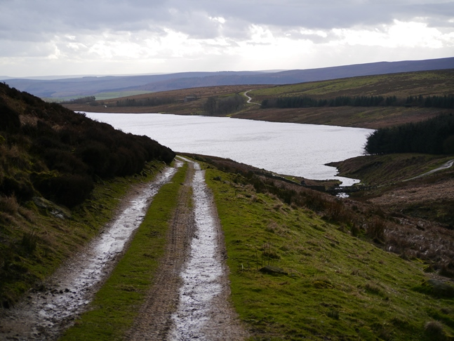 Returning to Grimwith Reservoir on the track above Gate Up Gill