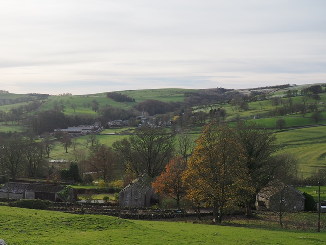 Looking across Hanlith to Kirkby Malham on the opposite side of the River Aire
