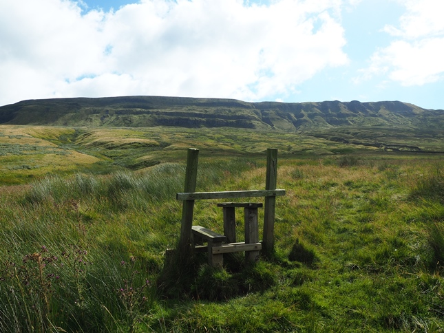 A redundant stile on the climb towards Mallerstang Edge