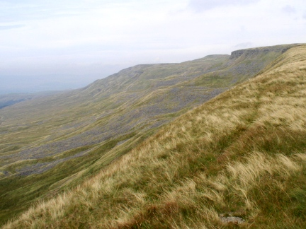 Looking back up to High Seat and Mallerstang Edge