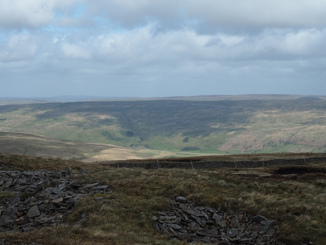 The view towards Horse Head with Halton Gill in the valley below