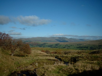 Looking across to the Howgill Fells