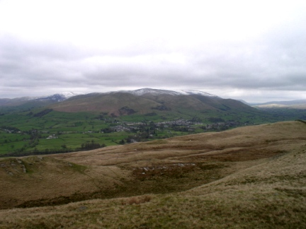 A view of the Howgill Fells from Holme Knott