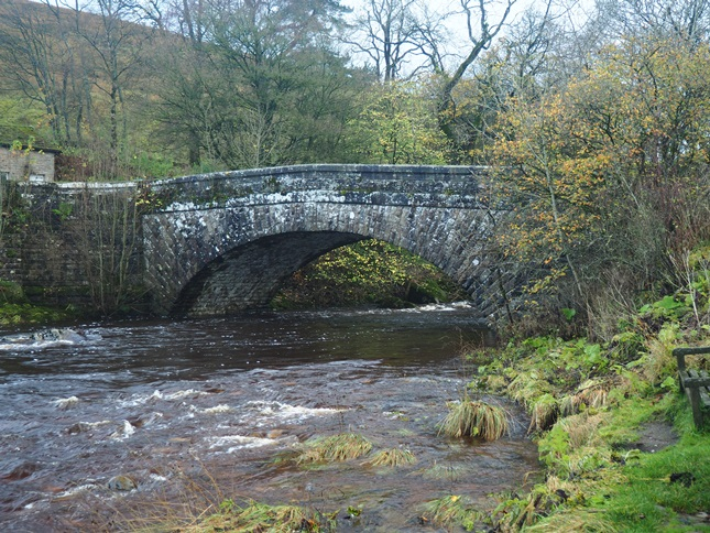 The bridge over the Wharfe at Hubberholme