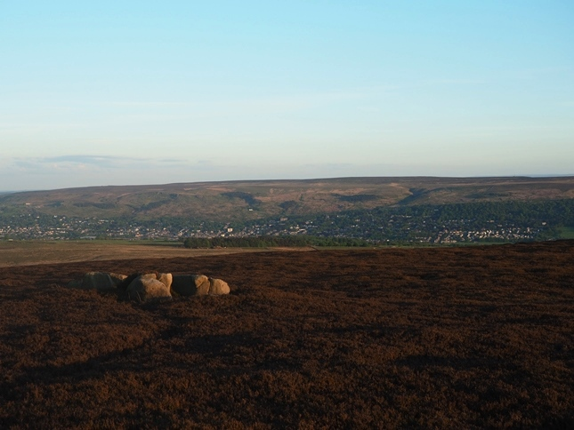 Looking south towards Ilkley and Rombalds Moor