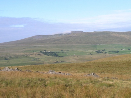 Looking across Ribblesdale towards Ingleborough