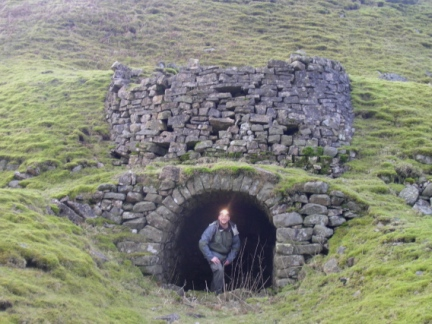 Checking out a lime kiln