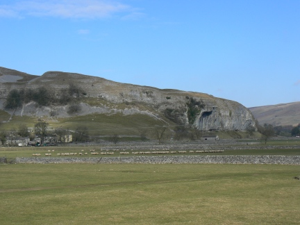 Kilnsey Crag from Conistone Bridge