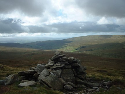 Looking down into Kingsdale from Whernside