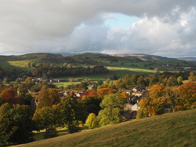 Looking down at Langcliffe