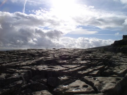Limestone pavement above Malham Cove