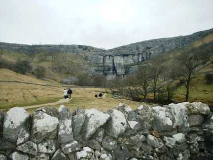 Looking back at Malham Cove