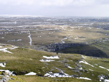 Malham Cove as seen from Pikedaw