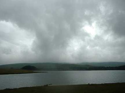 A dramatic sky over Malham Tarn