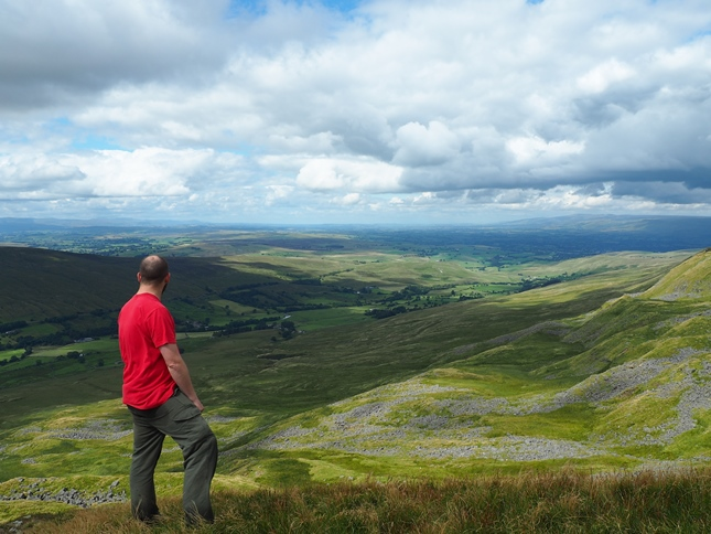 The wonderful view of Mallerstang and the Eden valley from High Loven Scar