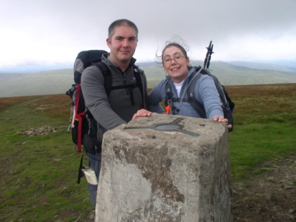 Matt and Jo on the top of Whernside