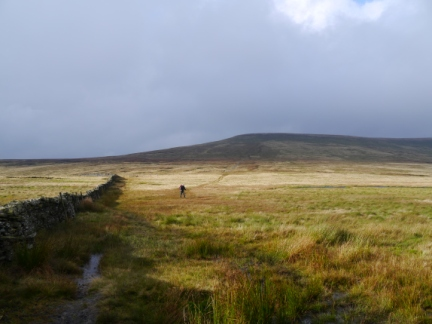 Matt on the col between Wild Boar Fell and Swarth Fell