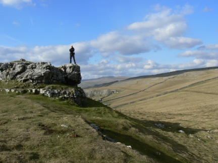 Matt on Conistone Pie